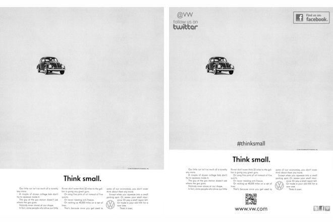 Anúncios clássicos reimaginados para a era das mídias sociais