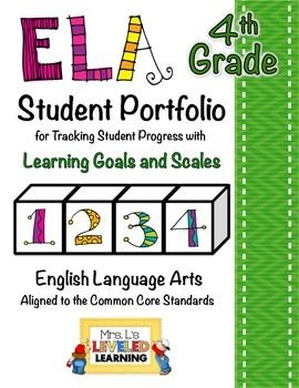 These student portfolio pages were created for students to record and present their progress in their ELA standards aligned to Common Core. They can be used to organize and track any work from these standards. These pages are meant to be dividers for student work portfolios, and also provide a space for students to write personal reflections and record progress throughout the year.