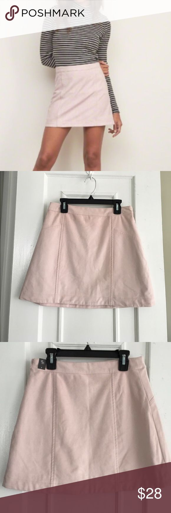 Abercrombie and Fitch Suede Pink Skirt NWT A&F light pink mini skirt! Great with tights for the winter! No flaws. Abercrombie & Fitch Skirts Mini