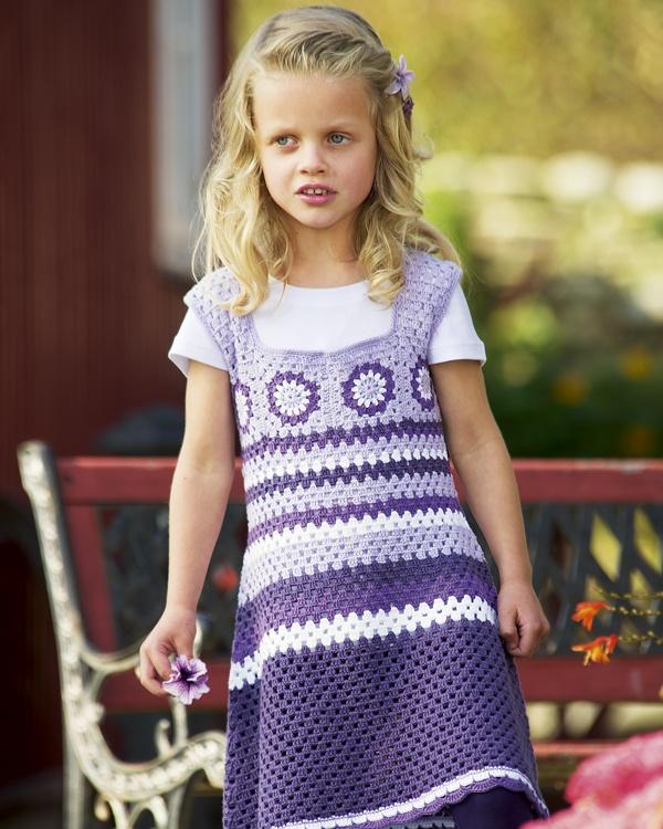 Virkad klänning #knittingroom #virkat #garn #sandnessgarn #sandnes #barn