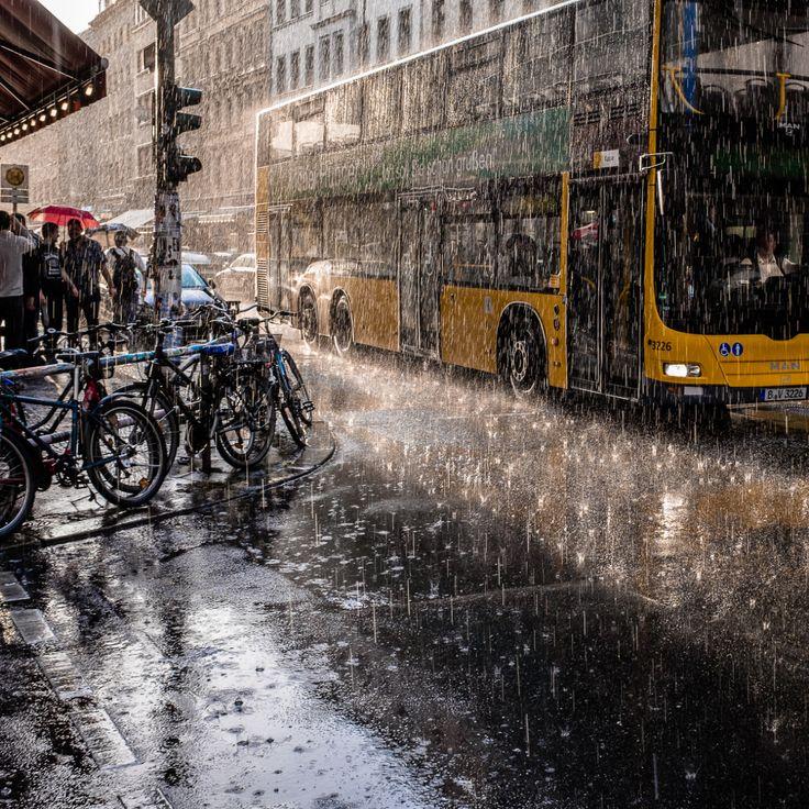 "streetberlin: "" summer rain in berlin kreuzberg "" Refreshing."
