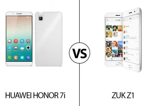 We're going to compare both he Lenovo and Huawei midrange smartphone to know wich one is a better. Let's have a look at Lenovo ZUK Z1 vs Huawei Honor 7i.