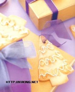"""Новогоднее печенье """"Елочки"""" - для украшения новогодних подарков"""