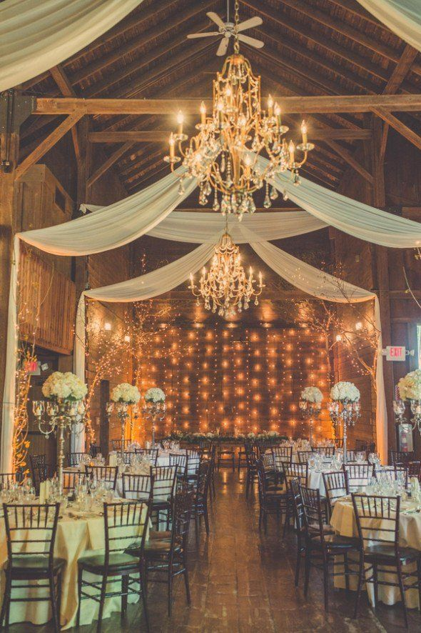 Note: Similar to what our venue is supposed to come out like. Love the lights on the back wall and simple draping.