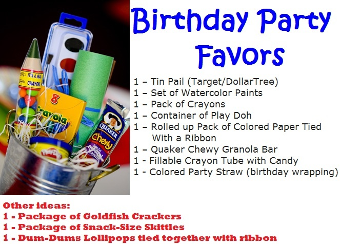 Birthday Party Crayola Favors