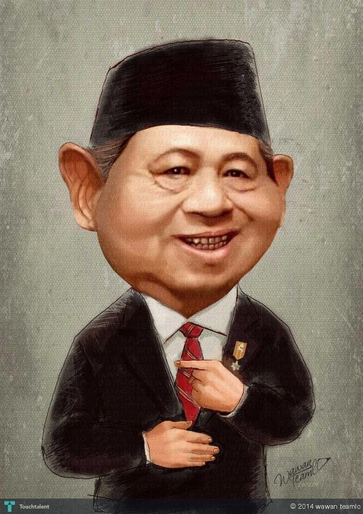 SBY -  Indonesia President 6th #Creative #Art #DigitalArt @Touchtalent.com