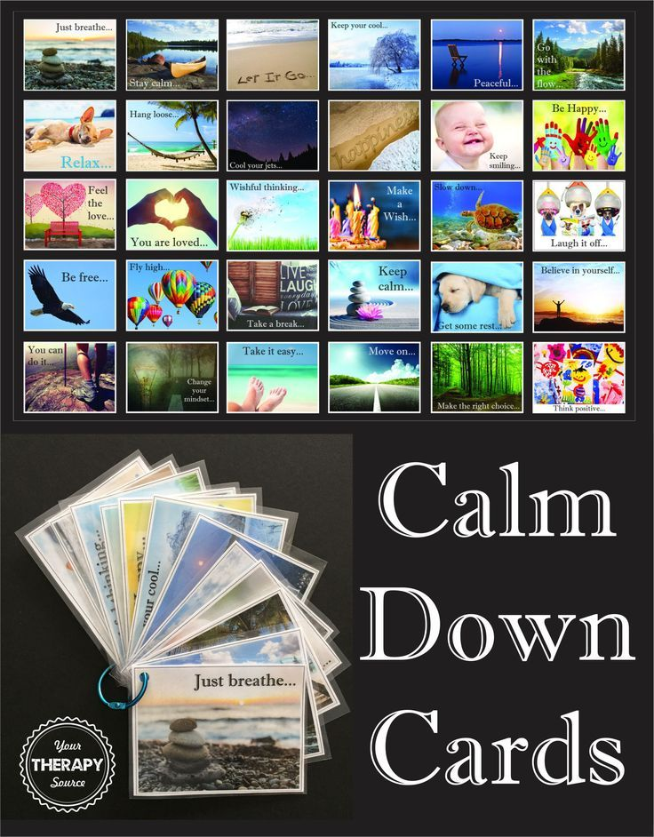 Here is the newest download from Your Therapy Source  Calm Down Cards. This is a wonderful collection of photographs with calming phrases to help children to calm down. You can download a free poster  Just Breathe. This set of Calm Down Cards includes