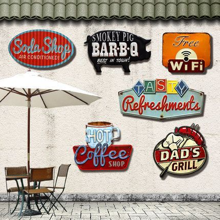 Retro Irregular Shade Metal Tin Signs For Bar Pub Cafe Hotel Garage Metal Art Wall Decor Sticker Poster Vintage Painting Plaque