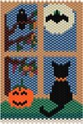 Window- Fall Bead Pattern at Sova-Enterprises.com