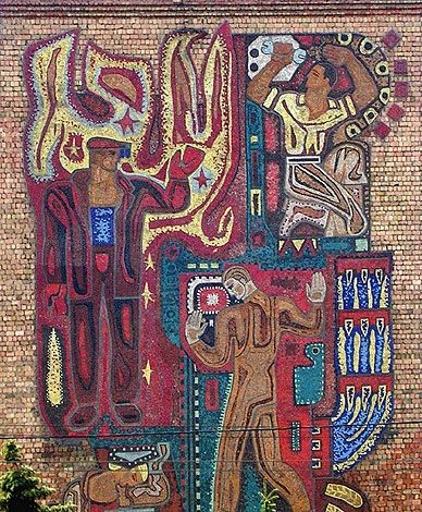 GRAFFITIZONE • Советская мозаика Киев, пр. Победы