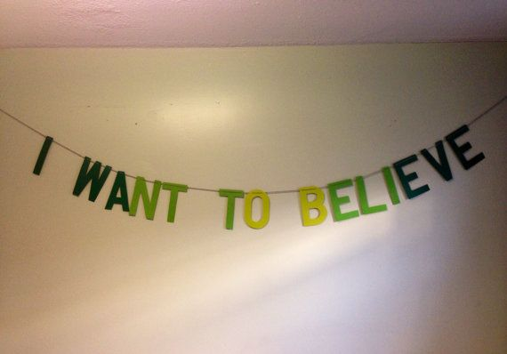 The XFiles I Want to Believe Banner by ThePatchriarchy on Etsy. SA COOL