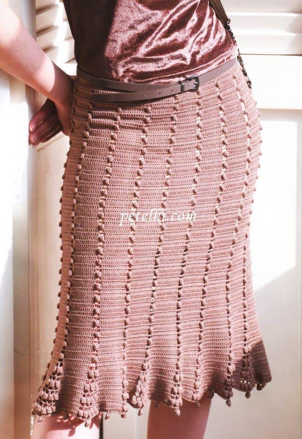 faldas largas a crochet | Found on madona-mia-trico-croche.blogspot.mx