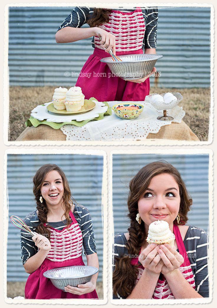 Cooking senior pictures. Baking senior pictures. Senior picture inspiration for bakers and cooks. #seniorpictureideas