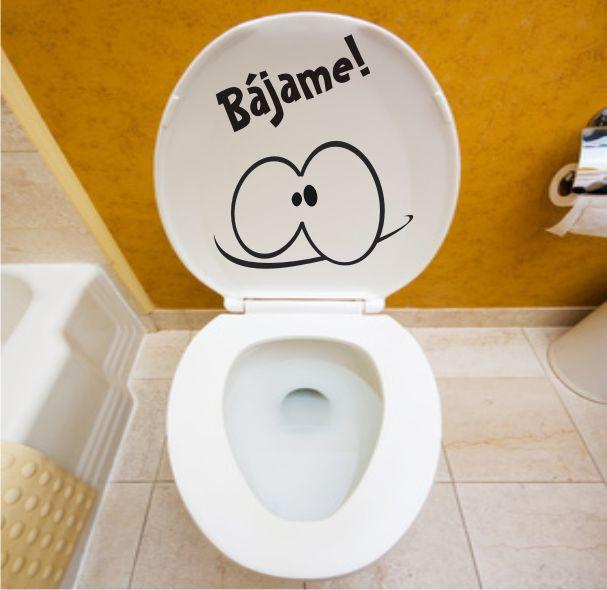 Bájame - Vinilo decorativo para baños http://www.viniloadhesivo.es/vinilos-para-cocinas-y-banos/541-vinilo-bajame.html