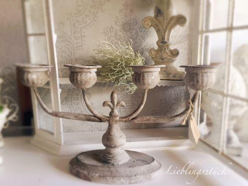 Kerzenständer - Shabby Vintage Antik Landhaus Kerzenleuchter - ein Designerstück von Lieblingsstueck_muc bei DaWanda