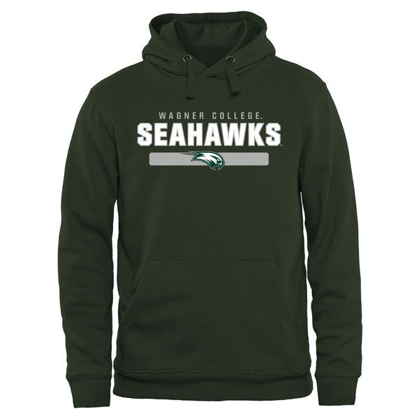 Wagner College Seahawks Team Strong Pullover Hoodie - Green - $44.99