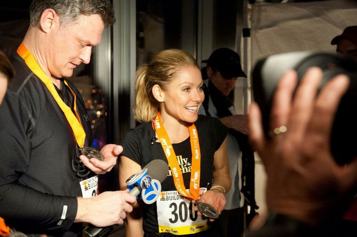 February 6, 2013: Celebrity participants in this year's Empire State Building Run-Up included LIVE with Kelly and Michael host Kelly Ripa, Today Show anchor Natalie Morales, The Weather Channel meteorologist Stephanie Abrams, NY1 anchor Pat Kiernan and meteorologist and reporter Amy Freeze.