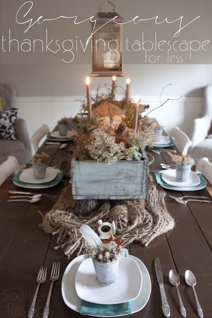 Fall Autumn Thanksgiving Tablescape Ideas #BIGDeal [ad]