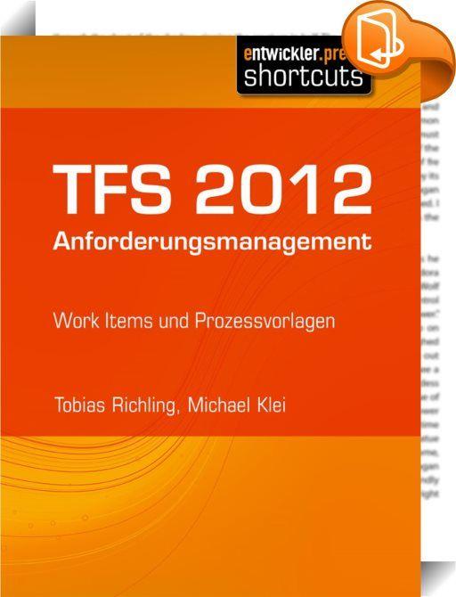 TFS 2012 Anforderungsmanagement    ::  Im TFS wird das Application Lifecycle Management verwaltet. Der gewählte ALM-Prozess kann von Team zu Team sehr unterschiedlich sein, orientiert sich meist an etablierten Prozessmodellen und beinhaltet verschiedene Workflows. Diese Prozessmodelle können dabei durch Projektvorlagen festgelegt werden, der Individualität wird durch Anpassbarkeit der Templates Rechnung getragen. Zentrales Element der Prozessvorlagen sind die Typen der zur Verfügung st...