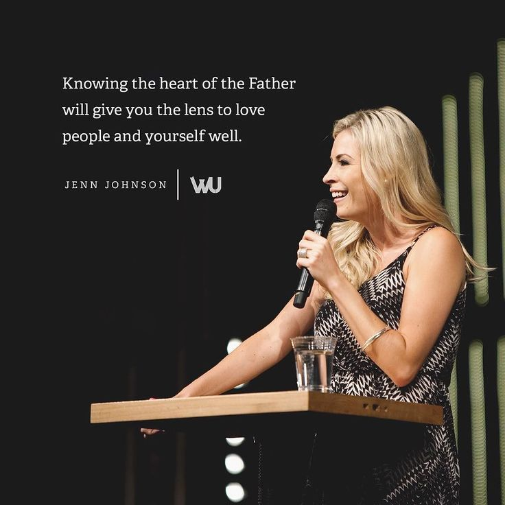 Knowing the heart of The Father will give you the lens to love people and yourself well. - Jenn Johnson (@jennjohnson20) for @WorshipU #WorshipU by bethelmusic