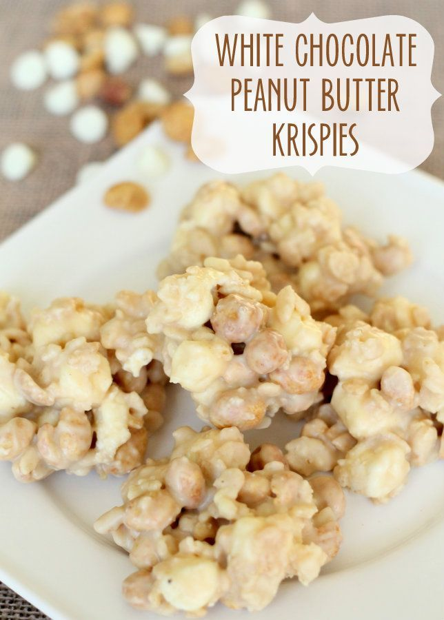 White Chocolate Peanut Butter Krispies from Lil Luna on I Heart Nap Time