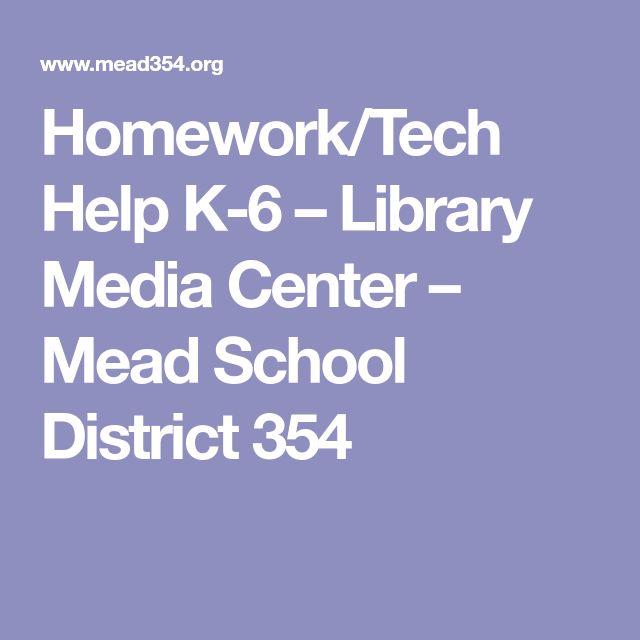 Homework/Tech Help K-6 – Library Media Center – Mead School District 354