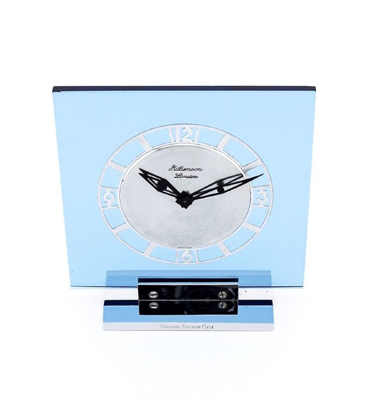 Unique and beautiful LeCoultre art deco  table clock made for Garrard London in the 30's. Garrard London was appointed by his majesty the king and her majesty the queen supplying fine jewels to the royal families. A highly collectible masterpiece. Find more details at our website, watch-time ID 718. #jaegerlecoultre #lecoultre #garrard #vintage #cKick #luxury