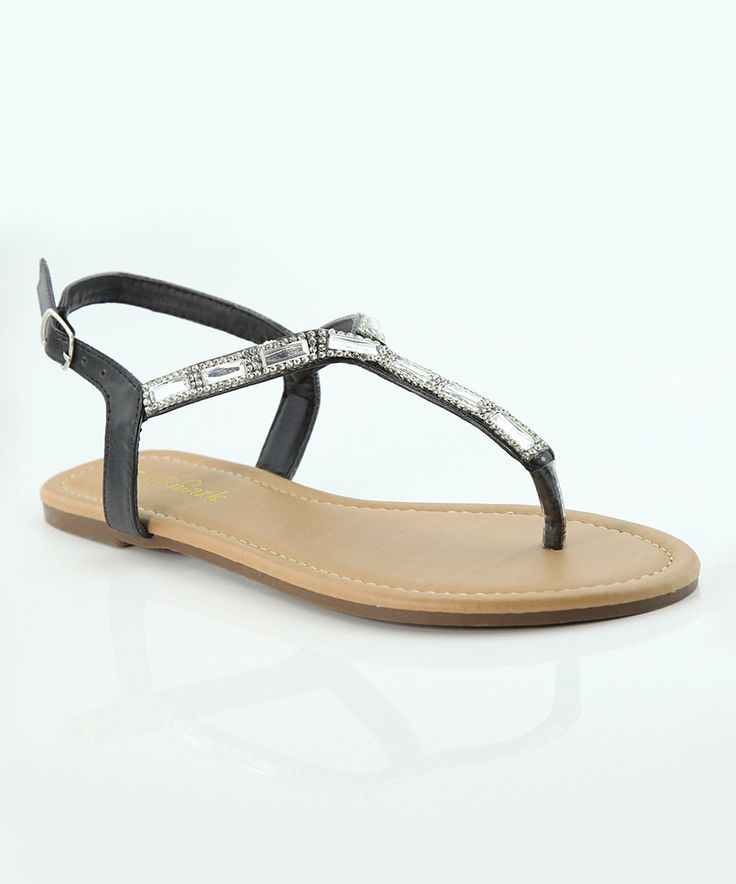 Look at this #zulilyfind! Lov mark Black Thin Iris Sandal by Lov mark #zulilyfinds