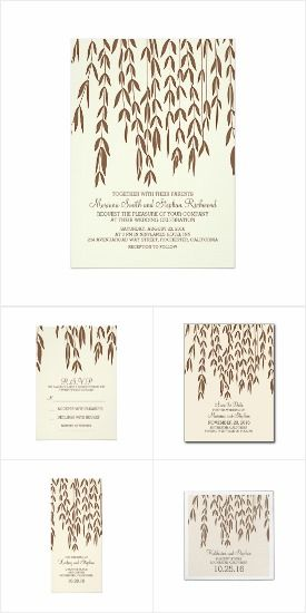 Classy Willow Tree Wedding Invitation Set Collection