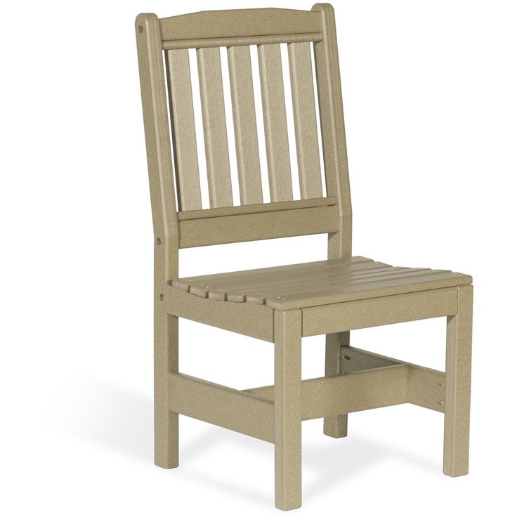 Leisure Lawns Recycled Plastic Garden Chair w/out Arms Model #920S