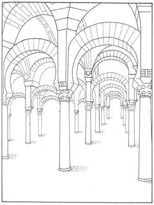 dibujo mezquita de cordoba   Buscar con Google   Dibujos de