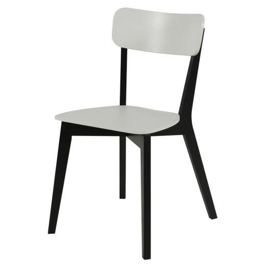 Jídelní židle dřevěná Corby (SET 2 ks) černá / bílá - 1