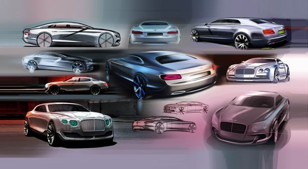 Bentley Continental Flying Spur Sketches
