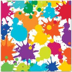 Art Party Lunch Napkins - 16 Pk Party Supplies Canada - Open A Party