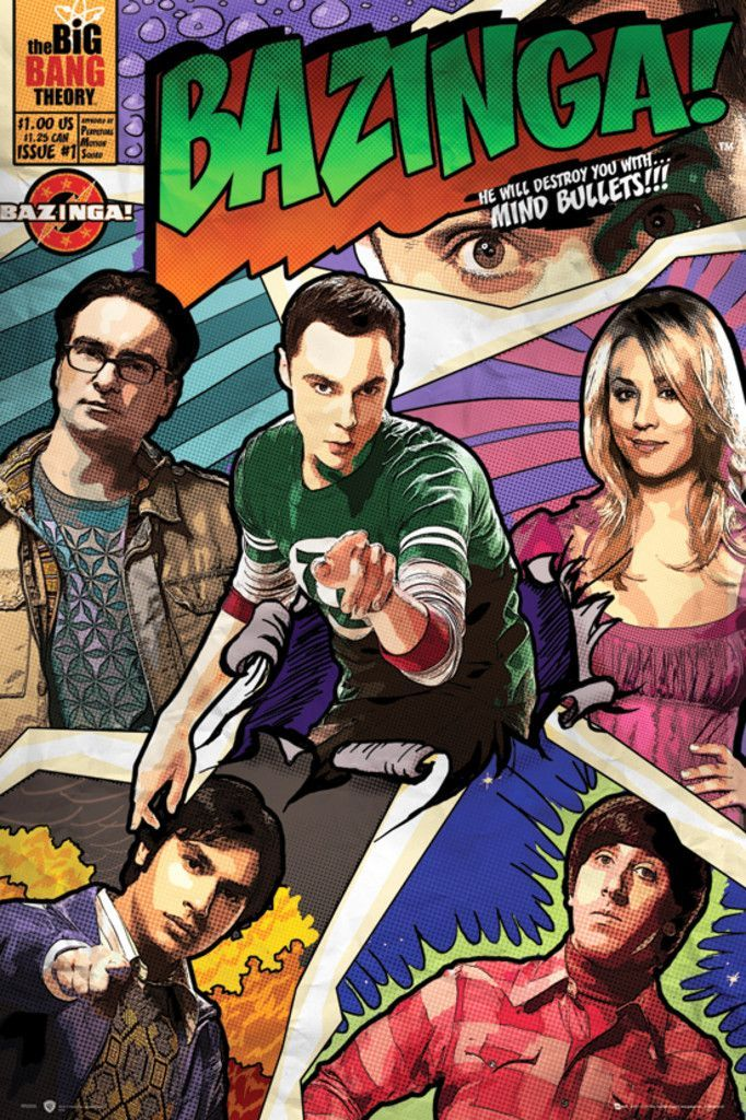 Big Bang Theory Comic - Official Poster. Official Merchandise. Size: 61cm x 91.5cm. FREE SHIPPING