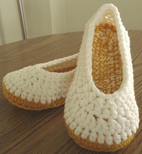 Нужна схема вязание крючком туфли тапочки