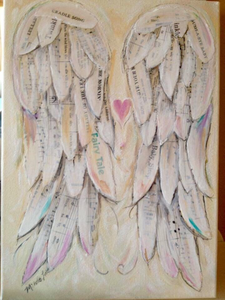 A personal favorite from my Etsy shop https://www.etsy.com/ca/listing/256528622/angel-wings-painting-wings-of-love