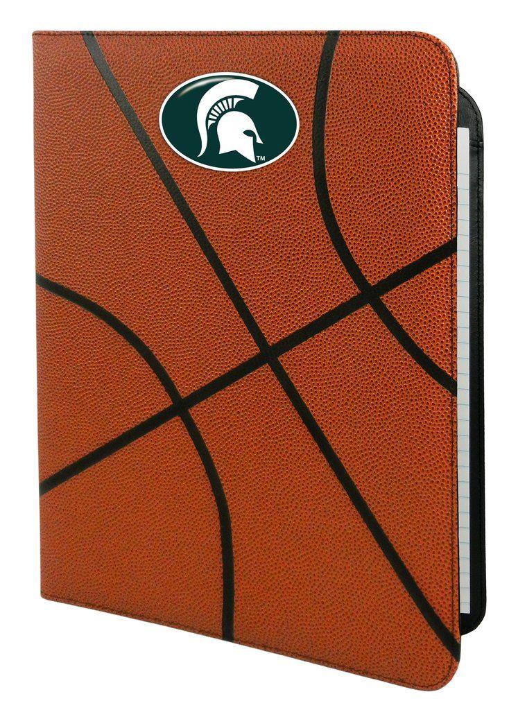 Michigan State Spartans Classic Basketball Portfolio - 8.5 in x 11 in