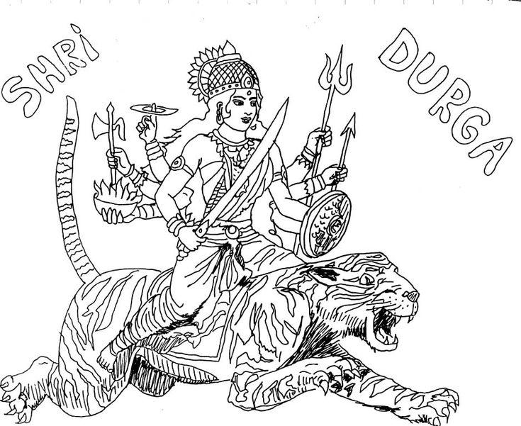 Coloring Goddess Goddess Durga Coloring Pages