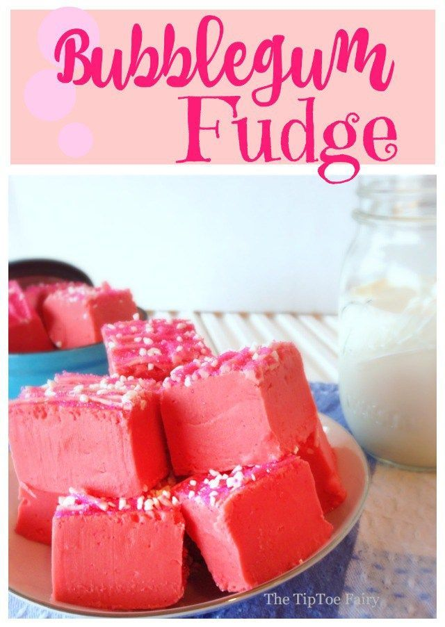 Have a sweet treat with Bubblegum Fudge!