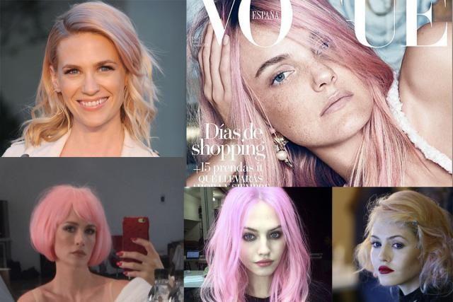 """""""Si me tiño de rosa pastel mi maquillaje debería ser..."""": La protagonista de Mad Men, January Jones, Charlotte Free  y Carol Trentini no se han resistido al rosa suave"""