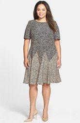 Gabby Skye Print Twill Dress (Plus Size)