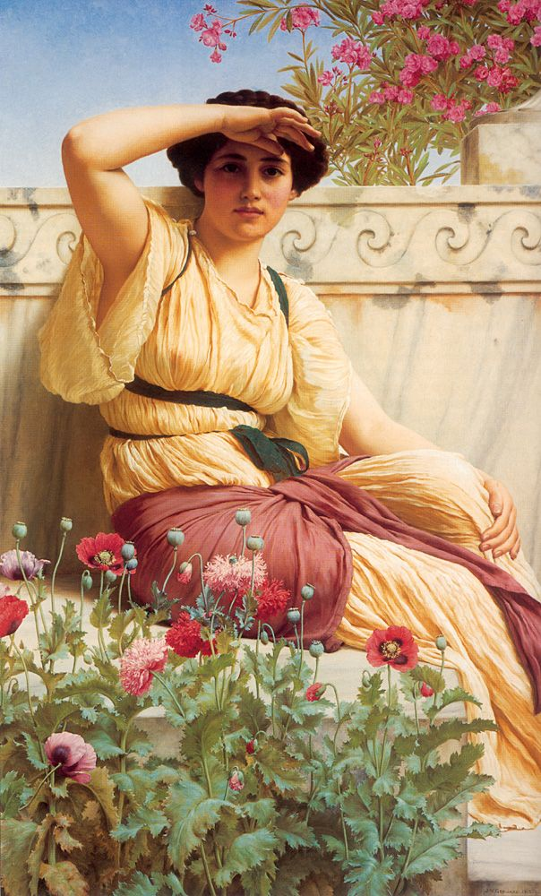 John William Godward (1861-1922) A Tryst Oil on canvas 1912