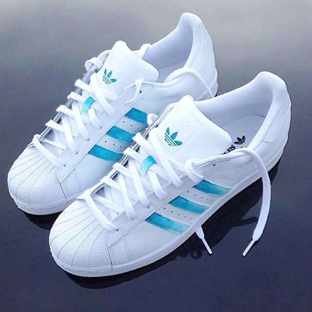 on sale e986e 63aa7  adidas superstar - ice fade  in 2019   Style   Adidas shoes women, Adidas  shoes, Shoes