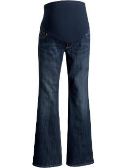 Maternity Full-Panel Flared-Leg Jeans | Old Navy- not so much a want but a need. I'm down to one pair of jeans!