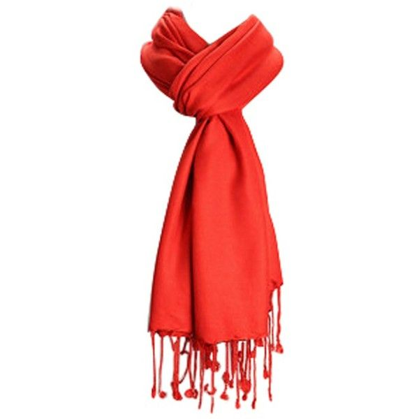 Amtal Premium Pashmina Scarf (18 BRL) ❤ liked on Polyvore featuring accessories, scarves, red shawl and red scarves