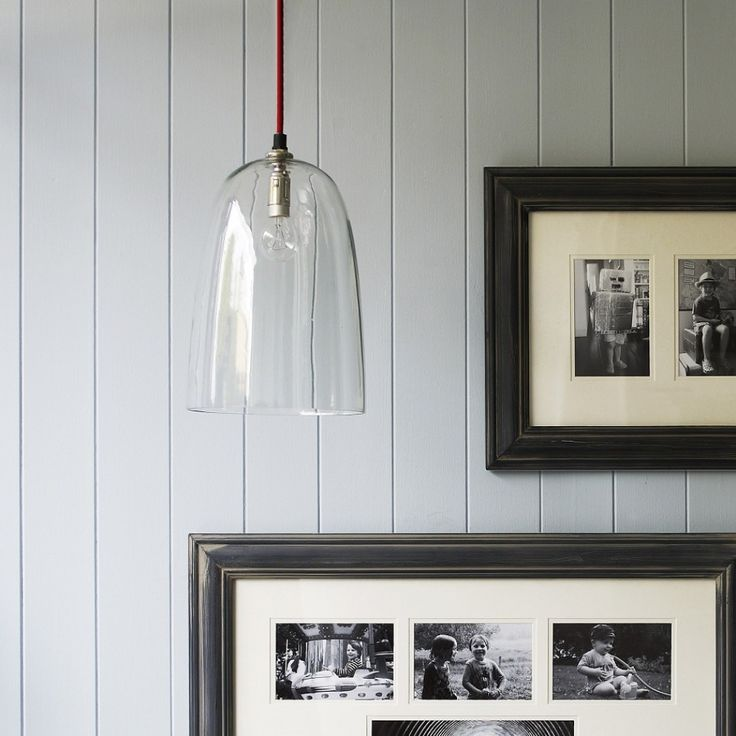 with a red braided flex and clear glass shade this wonderfully simple pendant light is perfect. Black Bedroom Furniture Sets. Home Design Ideas