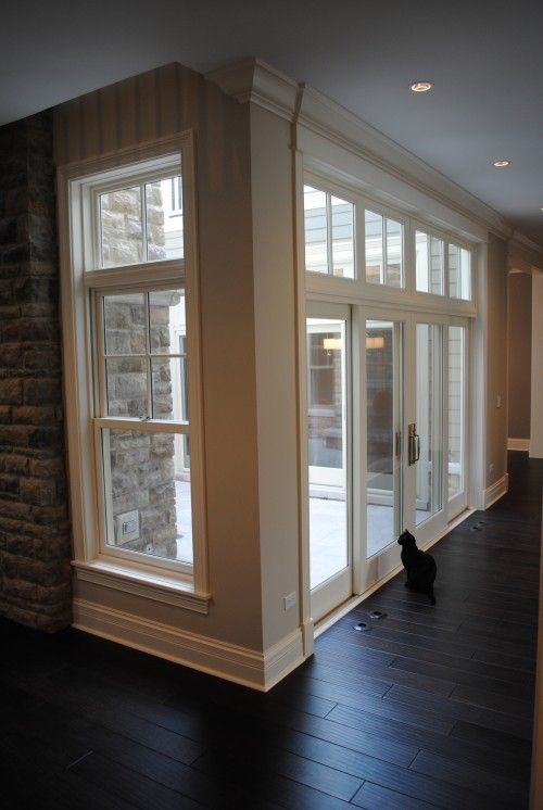 Stone Windows French Doors Transoms Wood Floors