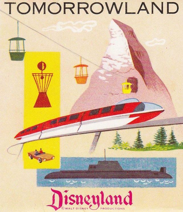 Disneyland's Tomorrowland (1950s) - I would like them to bring the sky buckets back, please!
