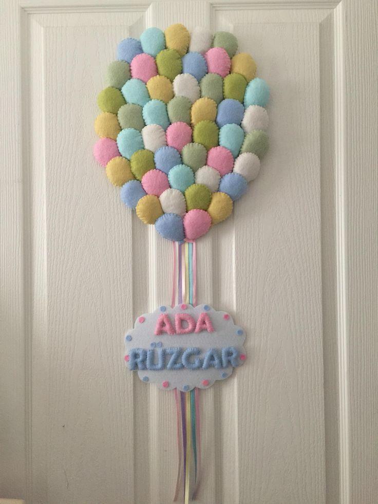 Keçe kapı süsü - balon